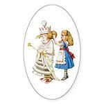 ALICE & THE WHITE QUEEN Sticker (Oval)
