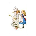 ALICE & THE WHITE QUEEN Sticker (Rectangle 50 pk)