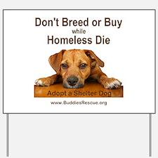 Adopt a Shelter Dog Yard Sign