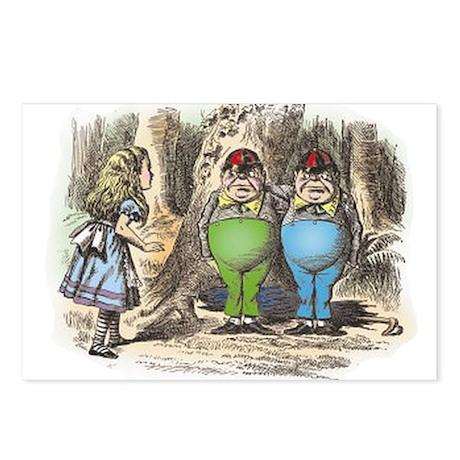 Tweedledum and Tweedledee Postcards (Package of 8)