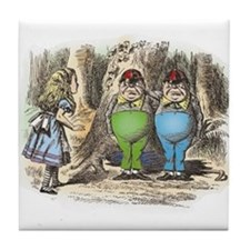 Tweedledum and Tweedledee Tile Coaster