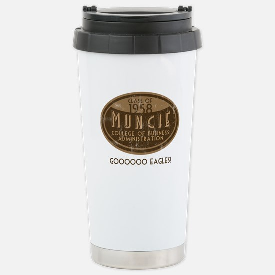 Muncie Business College Stainless Steel Travel Mug