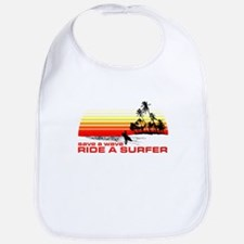 Save A Wave Ride A Surfer Bib
