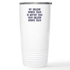 College Sports Team Travel Coffee Mug