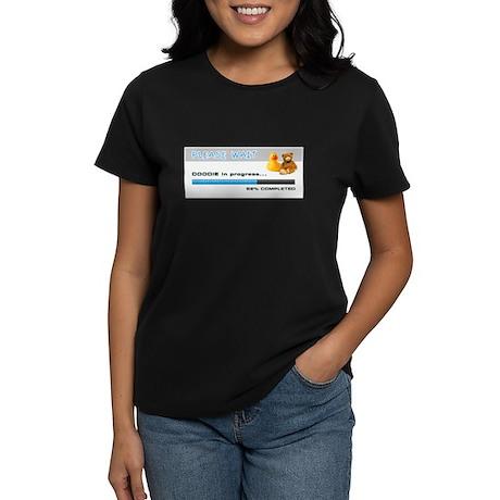 Baby Humor Doodie Progress Women's Dark T-Shirt