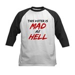 MAD AS HELL b Kids Baseball Jersey