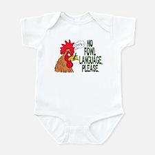 No Fowl Language Infant Bodysuit