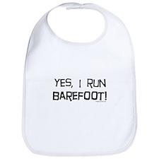 yes, I run barefoot! Bib