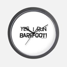 yes, I run barefoot! Wall Clock