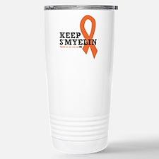 MS/Multiple Sclerosis Stainless Steel Travel Mug
