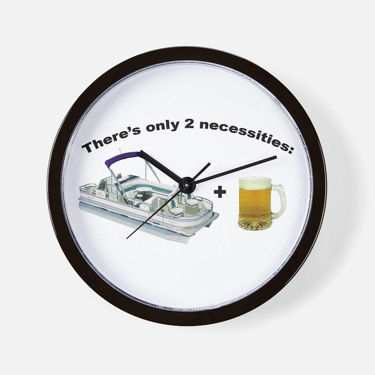 Pontoon Boat & Beer Wall Clock
