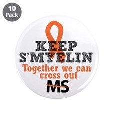 """MS/Multiple Sclerosis 3.5"""" Button (10 pack)"""