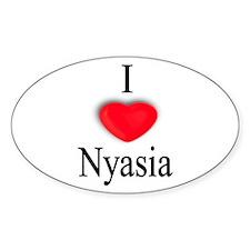 Nyasia Oval Decal