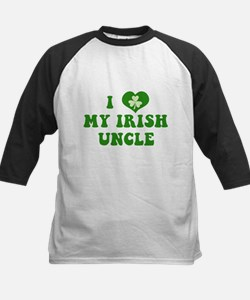 I Love My Irish Uncle Kids Baseball Jersey