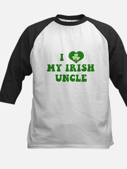 I Love My Irish Uncle Kids Baseball Jersey