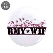 "Cute Army wife 3.5"" Button (10 pack)"