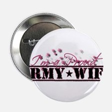 "Cute Army wife 2.25"" Button"