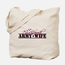 Cute Proud army wife Tote Bag