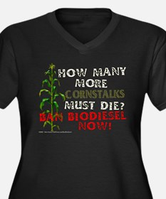 Ban Biodiesel - Women's Plus Size V-Neck Dark T-Sh