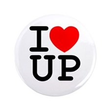 """I <3 UP - 3.5"""" Button"""