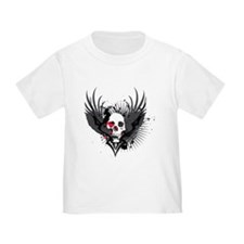 Skull & Wings Abstract Design T