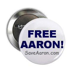"""""""FREE AARON!"""" 2.25"""" Button (10 pa"""