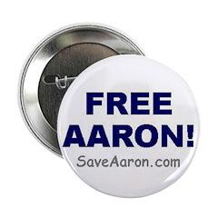 """FREE AARON!"" 2.25"" Button"