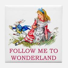 ALICE - Follow Me To Wonderland Tile Coaster