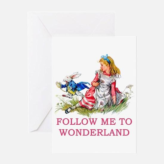 ALICE - Follow Me To Wonderland Greeting Card