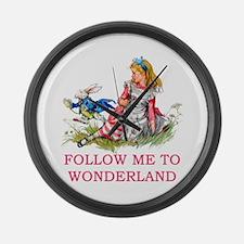 ALICE - Follow Me To Wonderland Large Wall Clock