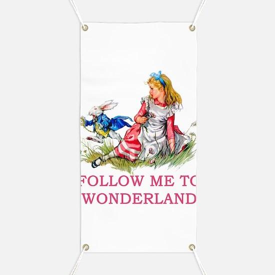 ALICE - Follow Me To Wonderland Banner