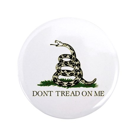 "Don't Tread On Me - 3.5"" Button (100 pack)"