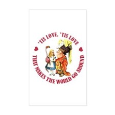 LOVE MAKES THE WORLD GO AROUND Decal