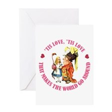 LOVE MAKES THE WORLD GO AROUND Greeting Card