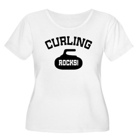 Curling Rocks! Women's Plus Size Scoop Neck T-Shir