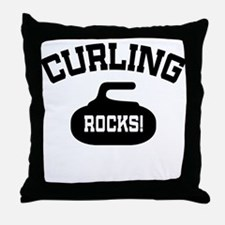 Curling Rocks! Throw Pillow
