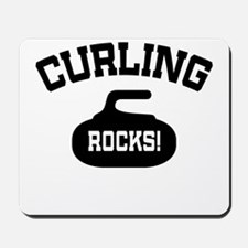 Curling Rocks! Mousepad