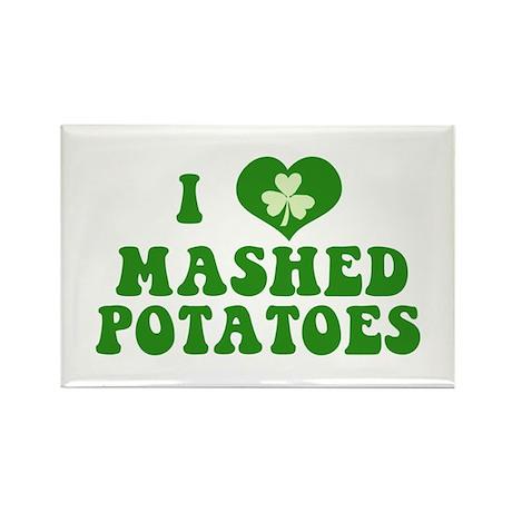 I Love Mashed Potatoes Rectangle Magnet