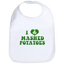 I Love Mashed Potatoes Bib