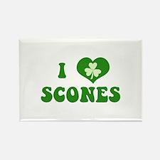 I Love Scones Rectangle Magnet