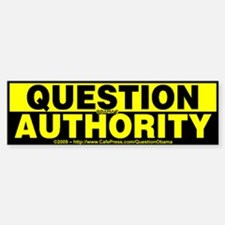Question Authority - Sticker (Bumper)