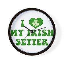 I Love My Irish Setter Wall Clock
