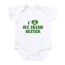 I Love My Irish Setter Infant Bodysuit
