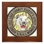 Salt Lake County SWAT Framed Tile
