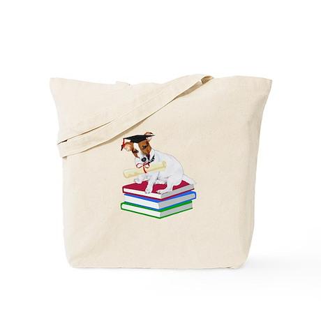 Jack Russell Terrier Graduation Tote Bag