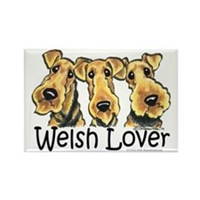 Welsh Terrier Lover Rectangle Magnet