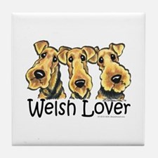 Welsh Terrier Lover Tile Coaster