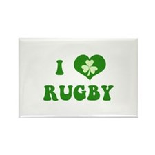 I Love Rugby Rectangle Magnet