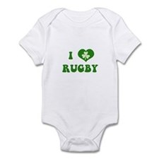 I Love Rugby Infant Bodysuit
