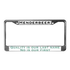 Cute Home brewing License Plate Frame